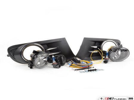 ES#2838997 - 1K0998022KT1 - Fog Light Conversion Kit - With Genuine Fogs & White Light - Complete kit to install fog lights on your MK6 Golf or Jetta SportWagen, featuring Genuine fog light housings. - Assembled By ECS - Volkswagen