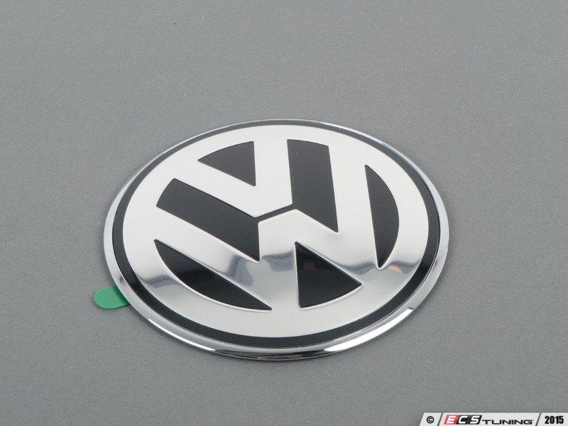 genuine volkswagen audi 1c0853630kwv9 rear vw emblem chrome grey 1c0 853 630 k wv9. Black Bedroom Furniture Sets. Home Design Ideas