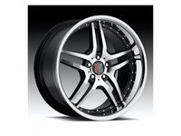 "ES#2855896 - rw21121880bkcrKT - 18"" RW2 Wheels - Set Of Four - 18""x8"" ET32 5x112 - Hyper Black/Chrome Lip - MRR Design - Audi Volkswagen"