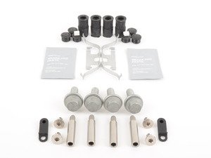 ES#2842061 - 34111153198aKT - Rear Pad And Rotor Installation Kit - Includes everything to install new rear brakes including guide bolts and bushings - Assembled By ECS - BMW