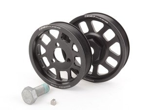 ES#2837 - VR612VPSKIT MK3 - ECS Lightweight Pulley Kit - Black - Includes lightweight crank & power steering pulleys, new key way & OEM crank bolt - ECS - Volkswagen