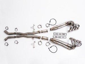 ES#2834621 - 008727ecs01aKT - SLS AMG Headers & Center Exhaust - Includes hi-flow cats, cross member spacers, O2 sensor harness extensions, and exhaust manifold gaskets. - ECS - Mercedes Benz