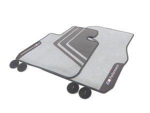 ES#2817880 - 51472407299 - M Performance Floor Mats - Front - Textile floor mats with M Performance logo - Genuine BMW M Performance - BMW