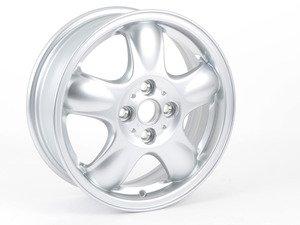 "ES#64905 - 36116768498 - R100 Alloy 5-star Spooler Wheel 15"" (4x100) Silver - Priced Each - 15 X 5.5 ET:45 - Genuine MINI - MINI"