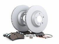 ES#2602306 - 95535140151FPKT - Performance Front Brake Service Kit - Featuring Zimmerman Z-Coated rotors and Hawk HPS brake pads - Assembled By ECS - Porsche