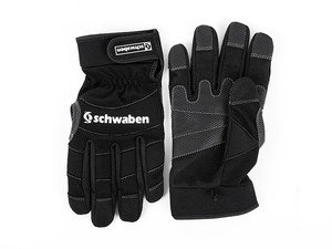 ES#2808552 - 010337SCH01A - Schwaben Black Mechanics Work Gloves - Medium - Protection for your hands while you work. No more scrapes and cuts. - Schwaben - Audi BMW Volkswagen Mercedes Benz MINI Porsche