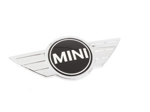 ES#2721209 - 51147316703 - Hood Emblem - Replace that faded or damaged chrome with new - Genuine MINI - MINI