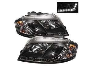 Spyder Halogen Projector Headlight Set - Black