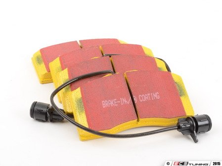 ES#520833 - DP41327R - Front YellowStuff Performance Brake Pad Set - A race quailty pad that can be used at the track and back home, includes wear sensors - EBC - Audi
