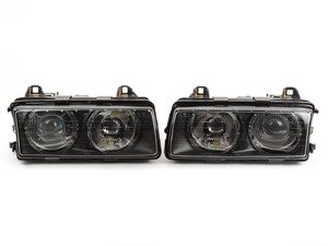 European Projector Headlight Set - Euro-Style Nippled Glass