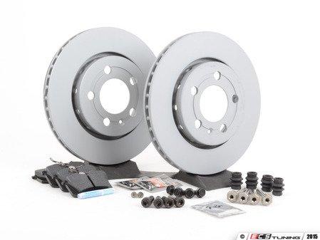 ES#2765727 - 8N0615601BKT8 - Rear Brake Service Kit (256x22) - Featuring Zimmerman rotors and HAWK HPS pads - Assembled By ECS - Volkswagen