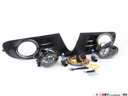 ES#1905668 - 1K0998022 - Fog Light Conversion Kit - white light - Complete kit to install fog lights on your MK6 Golf or Jetta SportWagen - Assembled By ECS - Volkswagen