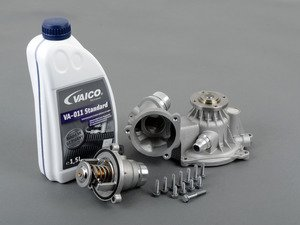 ES#2792716 - 11517531859KT - Water Pump Replacement Kit  - Includes water pump, thermostat and coolant - Assembled By ECS - BMW