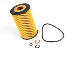 ES#11649 - 11421716192 - Oil Filter - Priced Each - Fits engines with plastic oil filter housing - Mahle - BMW