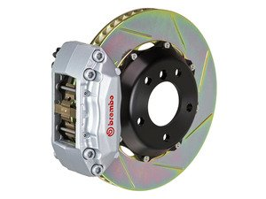 ES#3142480 - 1P2.8005A3 - Front Brembo GT 4 Piston Big Brake Kit (345x28mm) - Upgrade to 2 piece rotors (slotted), 4 piston calipers (Silver), & high performance Brembo pads - Brembo - MINI