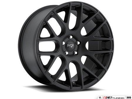 """ES#2862756 - m11019954348KT - 19"""" Circuit - Set Of Four - 19""""x9.5"""" ET48 5x112 - Satin Black - Niche Wheels - Volkswagen"""
