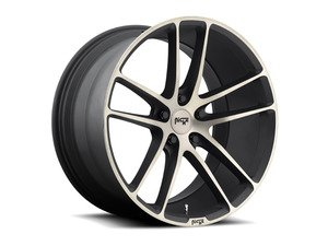 "ES#2848906 - ENYO-003BKT - 20"" Enyo ""M115"" Wheels - Set Of Four - 20""x10"" ET40 57.1CB 5x112 Black & Machined - Niche Wheels - Audi"