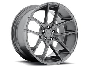 "ES#2863254 - m12919854334KT3 - 19"" Targa - Set Of Four - 19""x8.5"" ET34 / 19""x9.5"" ET25 5x112 - Anthracite - Niche Wheels - Volkswagen"