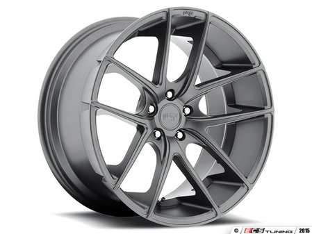 "ES#2991972 - TARGA-011GKT - 19"" Targa ""M129"" Wheels - Set Of Four - 19""x8.5"" ET42 66.6CB 5x112 Matte Gunmetal - Niche Wheels - Audi"