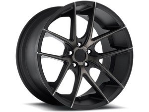 "ES#2863227 - m13019954325KT - 19"" Targa - Set Of Four - 19""x9.5"" ET25 5x112 - Black DDT/Machined - Niche Wheels - Volkswagen"