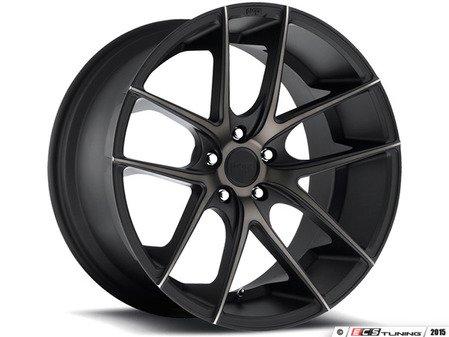 """ES#2863227 - m13019954325KT - 19"""" Targa - Set Of Four - 19""""x9.5"""" ET25 5x112 - Black DDT/Machined - Niche Wheels - Volkswagen"""