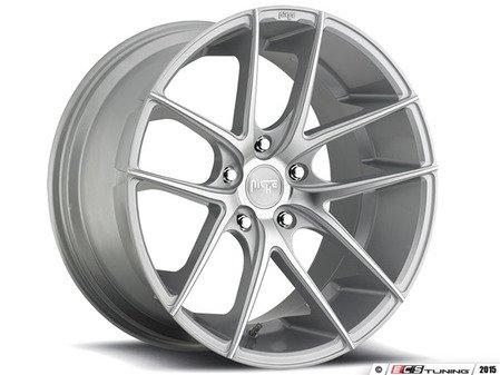 """ES#2863536 - m13118951118KT - 18"""" Targa - Square Set Of four - 18x9.5 ET20 74.1 CB machined silver face - Niche Wheels - BMW"""