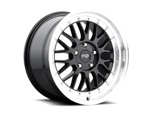 "ES#2863100 - m09318854335KT - 18"" Project - Set Of Four - 18""x8.5"" ET35 5x112 - Gloss Black/Machined Lip - Niche Wheels - Volkswagen"