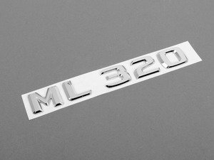 ES#1701233 - 1648170915 - 'ML 320' Emblem - Located on the rear hatch of your vehicle - Genuine Mercedes Benz - Mercedes Benz