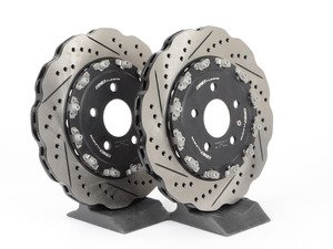 ES#2681109 - 003523ECS02A02KT - Rear 2-Piece Tru-Float Wave Brake Rotors - Pair (330x22) - Direct bolt-on replacement - 21% less weight! - ECS - Audi