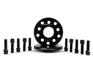 ES#2748193 - ECS10157KTWB1 - ECS Wheel Spacer  Bolt Kit - 15mm With Black Ball Seat Bolts - Includes everything you need to install spacers on two wheels - ECS - Audi Volkswagen