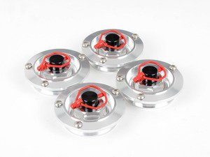 ES#2840606 - W01SILVER - Center Lock Look Center Cap Set - Silver - Give your wheels the look of center locking wheels, set of four - Rennline - Audi Mercedes Benz MINI Porsche