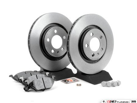 ES#2763818 - 1J0698040kt -  Front Brake Service Kit (280x22) - Featuring Brembo rotors with Hawk HPS pads - Assembled By ECS - Volkswagen