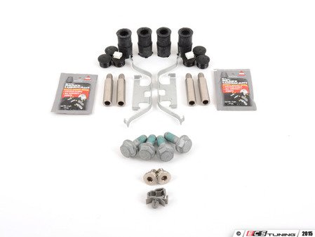 ES#2582056 - E9XREARPDRTKT - Rear Pad And Rotor Installation Kit - Everything you need to install new rotors and pads using all new components - Assembled By ECS - BMW