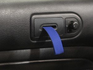 ES#2839584 - DH19BLKBLU - RS Style Door Pull Set - Blue - Give your interior the racing feel of the Porsche RS models, sold as a pair - Rennline - Volkswagen