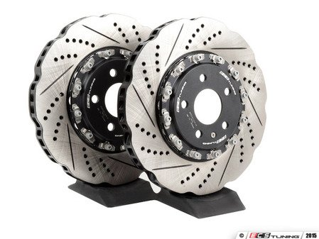 ES#2681113 - 003523ECS01A01KT - Front 2-Piece Tru-Float Wave Brake Rotors - Pair (345x30) - Direct bolt-on replacement - 27% less weight! - ECS - Audi