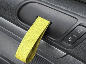 ES#2839596 - DH20BLKYLW - RS Style Door Pull Set - Yellow - Give your interior the racing feel of the Porsche RS models, sold as a pair - Rennline - Volkswagen