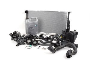 ES#2739953 - 17117547059KT2 - ECS Cooling System Refresh Kit - Level 3 - Everything you need to totally service your cooling system, including a radiator and belt service - Genuine BMW - BMW