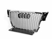 ES#2818169 - 003582ECS04A -  RS4 Mesh Style Grille - Gloss Black Mesh With Chrome Frame - Add a sleek new look to your front end with this chrome & gloss black mesh grille. - ECS - Audi