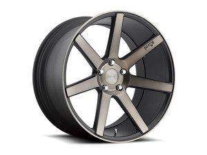 """ES#2863389 - m15019854342KT1 - 19"""" Verona - Set Of Four - 19""""x8.5"""" ET42 / 19""""x9.5"""" ET48 5x112 - Black DDT/Machined - Niche Wheels - Volkswagen"""