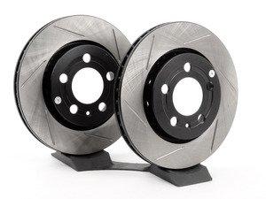 ES#2855264 - st126.33069slrKT - Rear Slotted Rotors - Pair (256x22) - Upgrade to a slotted rotor for improved braking - StopTech - Audi Volkswagen