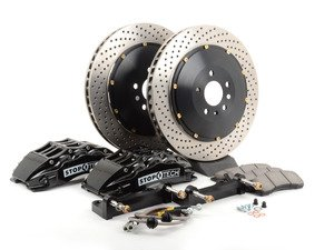 ES#3048394 - 83.155.6700.52 - StopTech front 6 piston big brake kit (355x32mm)  - Comes with 6 piston black calipers, 2 Piece uncoated drilled rotors and stainless steel brake lines. - Includes brackets and mounting bolts. - StopTech - BMW