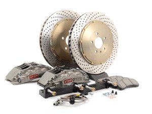 ES#3118298 - 83.152.6800.R2 - StopTech front 6 piston Trophy big brake kit (380x32mm)  - Upgrade to a trophy kit with ultra lightweight zinc coated slotted rotors and 6 piston lightweight calipers with a hard anodized coating. - StopTech - BMW