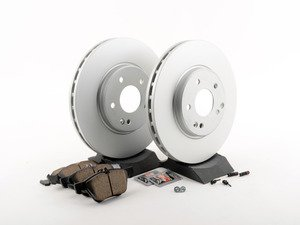 ES#2770024 - 210421251264KT6 - Front Brake Service Kit - Featuring ATE Rotors And Akebono-Euro Ceramic Pads - Assembled By ECS - Mercedes Benz