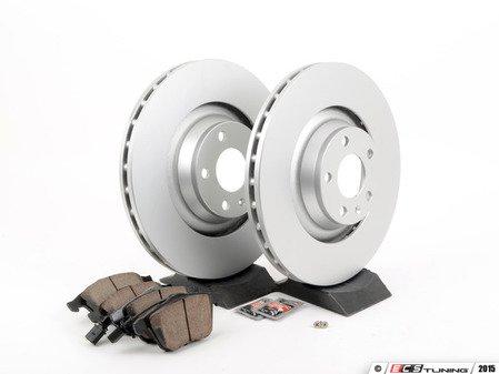 ES#2631406 - 4F0615301GKT9 - Front Brake Service Kit - Featuring Meyle rotors and Akebono euro ceramic brake pads - Assembled By ECS - Audi