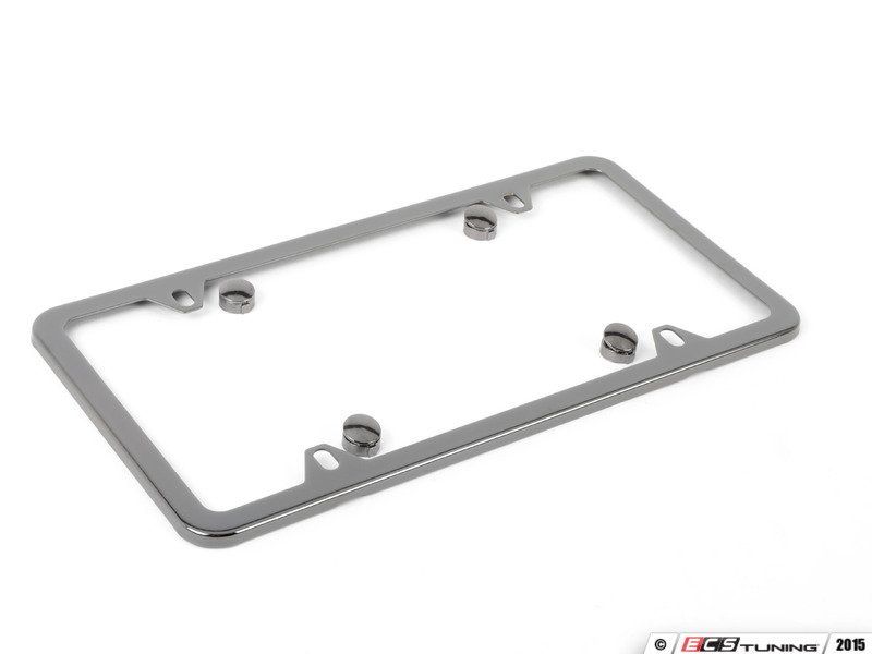 es1829259 q6880092 slimline license plate frame black pearl coatstainless