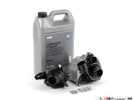 ES#2763074 - 11517632426KT4 - Water Pump And Thermostat Kit - Includes everything you need to replace your water pump and thermostat. Featuring OEM German-made water pump and thermostat. - Assembled By ECS - BMW