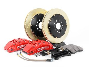 ES#3117721 - 83.114.6700.73 - StopTech Front Big Brake Kit (355x32) - Featuring Red 6 piston calipers, 2-Piece Slotted & coated rotors, stainless brake lines, and Street performance brake pads - StopTech - Audi