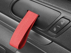 ES#2839594 - DH20BLKRED - RS Style Door Pull Set - Red - Give your interior the racing feel of the Porsche RS models, sold as a pair - Rennline - Volkswagen