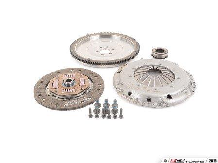 ES#2826549 - 10105150509K - 228mm steel flywheel and OEM clutch kit - Includes clutch disc, steel flywheel, pressure plate, release bearing and pressure plate hardware. - Autotech - Volkswagen