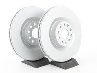 ES#2855669 - 1k0615301mkt10KT - Front Brake Rotors - Pair (345x30) - Restore the stopping power in your vehicle with these Geomet coated rotors - Optimal - Audi Volkswagen